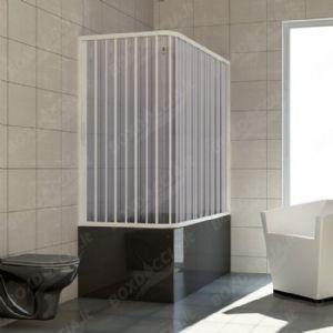 Box doccia per vasca da bagno angolare  in pvc a soffietto vasta gamma di colori