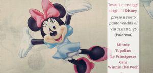 Tendaggio Disney con Minnie in panna